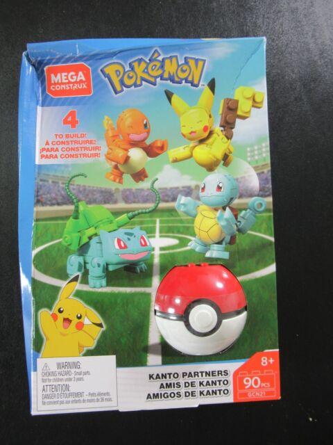 Mega Construx Pokemon Kanto Partners 90 Pieces GCN21 8+ PKG WEAR