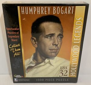 White-Mountain-Hollywood-Legends-Humphrey-Bogart-1000pc-Jigsaw-Puzzle-2007-NEW