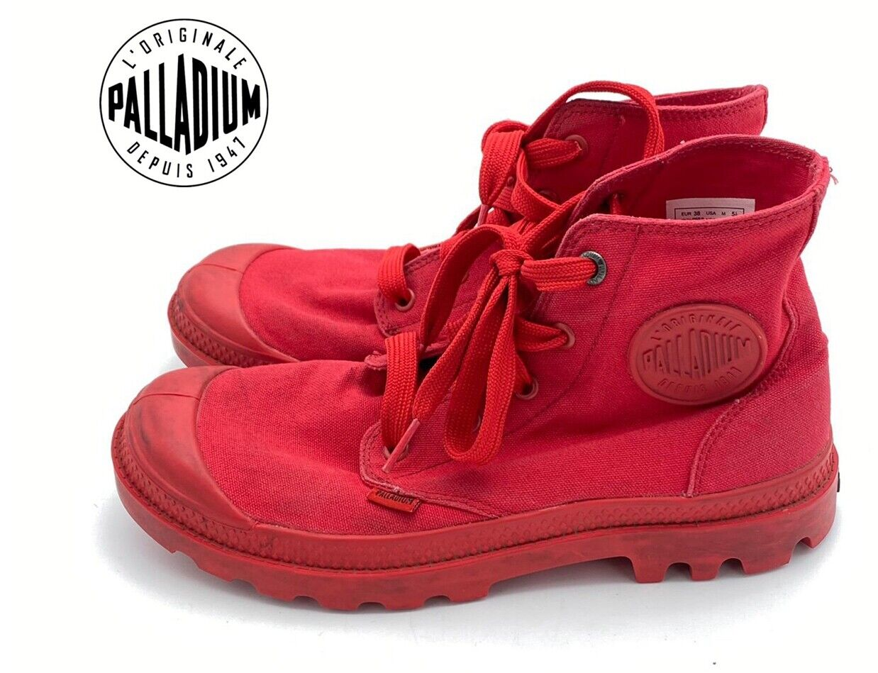 Palladium Boots Pampa Monochrome Red Unisex boots Size US5.5