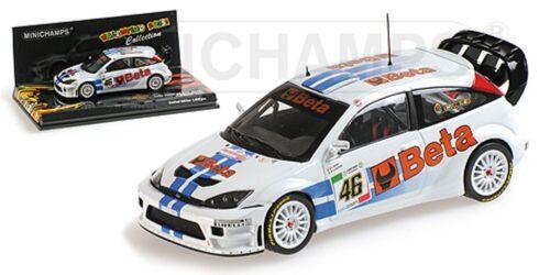 Minichamps 400 078446 Ford Focus RS WRC Rossi//Cassina Monza Coche Modelo 2007 1:43