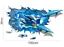 3D XXL Wandtattoo Wandsticker Sticker  Meer Unterwasserwelt Delphin Delfine 105