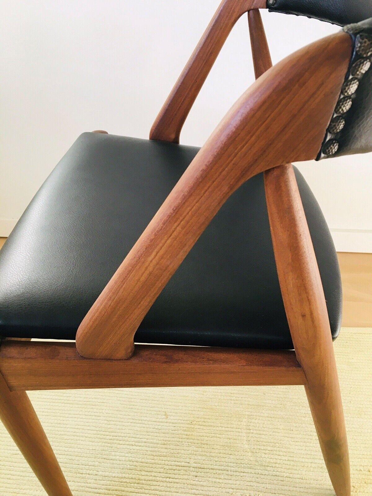 Spisebordsstol, Teaklæder, Kai – dba.dk – Køb og Salg af
