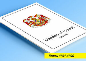 Image Is Loading COLOR PRINTED HAWAII KINGDOM 1851 1896 STAMP ALBUM