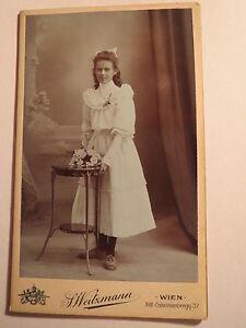 Wien-stehendes-schoenes-Maedchen-im-Kleid-Kulisse-Portrait-CDV