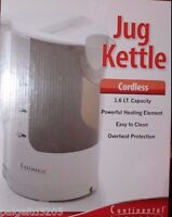 Continental Electric Cordless Jug Kettle 1.6 Lt White Ce23691