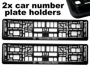 2-x-Doming-CAR-Number-Plate-Surround-Holder-Frames-BEST-FIT-for-MERCEDES