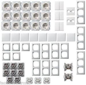 gira system 55 reinwei gl nzend steckdose rahmen wippe mit up schalter paket ebay. Black Bedroom Furniture Sets. Home Design Ideas