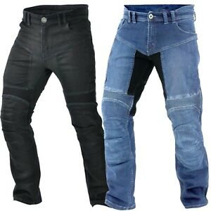 Herren Motorrad Jeans Schwarz Protektoren Hose Aramid Hose Biker Motorrad Hose