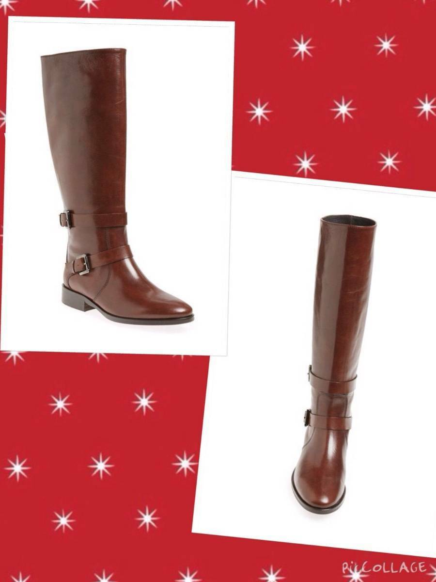 SJP by Sarah Jessica Parker sz 37/7US'Kelly'Knee High Riding Boots Brown Italy