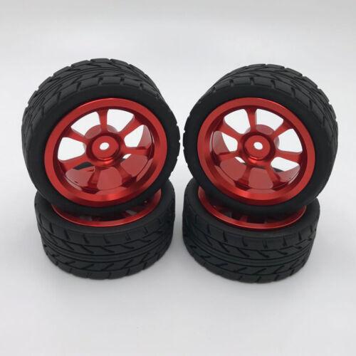 Upograde Tires Wheel Fits WLTOYS 144001 1//14 A959 A949 RC Crawler Car Accs