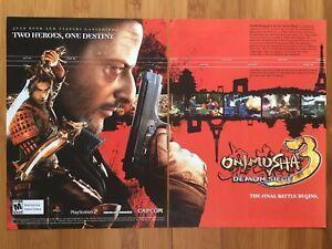 Onimusha-3-Demon-Siege-PS2-Playstation-2-2004-Poster-Ad-Art-Print-Jean-Reno-Rare