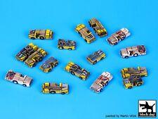 Black Dog 1/350 Carrier Deck Tractors Accessories Set (16 tractors) S35001