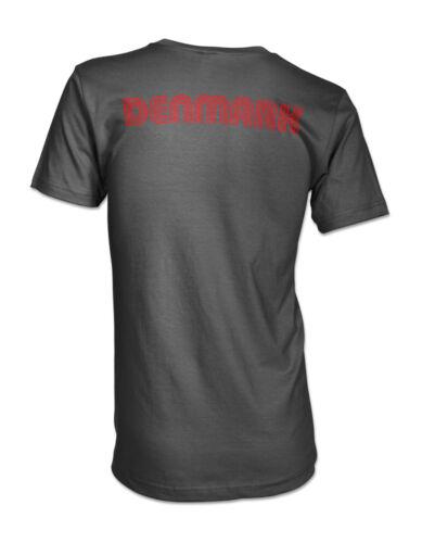 Denmark National Flag Country Danish Dynamite Danmarks Mens V-neck T-shirt