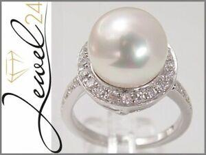 Sarah-Kern-Ring-echt-Silber-925-Sterling-rhodiniert-Zirkonia-und-Perle-Cocktail