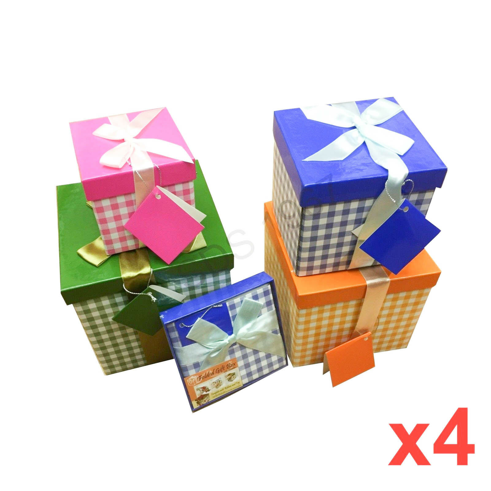 Details About 4x High Quality Gift Boxes Bag Folded Necklace Bracelet Christmas Gift Wholesale