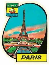 Paris  France   Eiffel Tower  1950's Vintage - Looking  Travel Decal Sticker