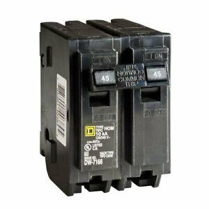 HOM245 Circuit Breaker 45 AMP 2 Pole 120//240 VAC NEW!!