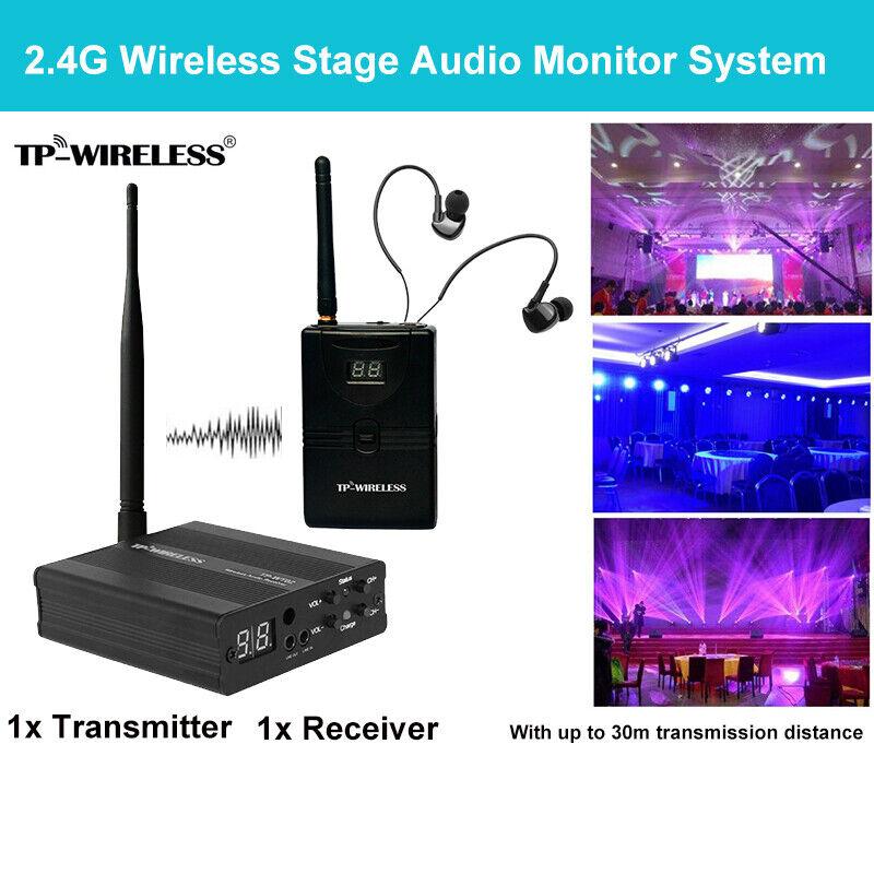 TP Wireless TP-WMS02 Wireless In Ear Monitor System Transceiver Audio Ear Return
