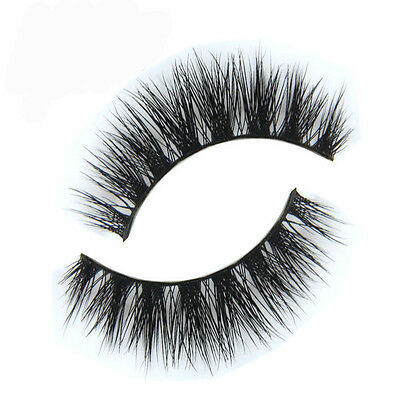 Black Luxurious 100% Real Mink Natural Thick Soft Eye Lashes False Eyelashes