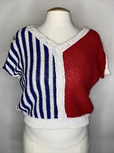 1980s Red Striped Sweater Nautical