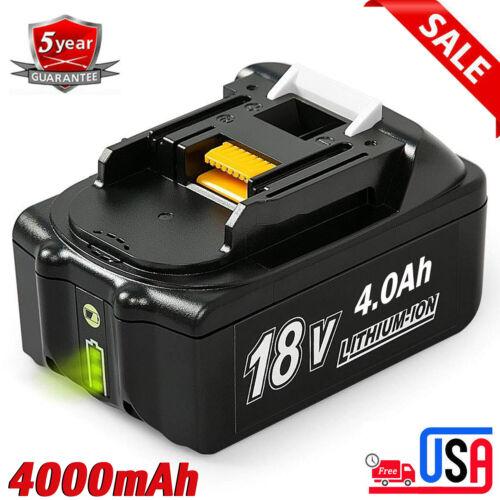 For Makita BL1840B BL1860B LXT400 BL1830B BL1815 18V 4000mAh Lithium Ion Battery
