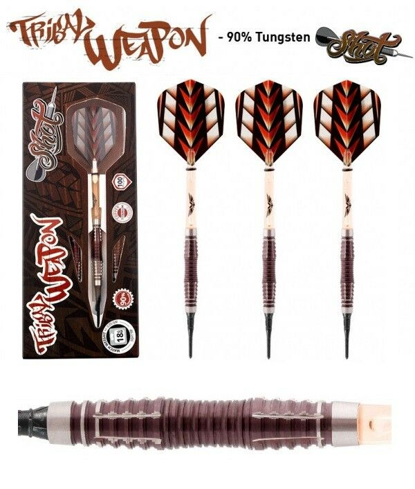 Shot  Dart - Tribal Weapon III Centre Weight 18g 20g (Soft Dart) 3 Dartpfeile