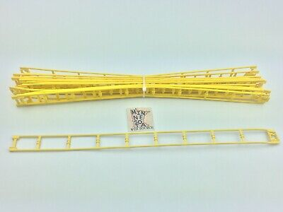 """Micro Knex Track Yellow 16/"""" Straight Roller Coaster Parts 12 Piece Lot"""