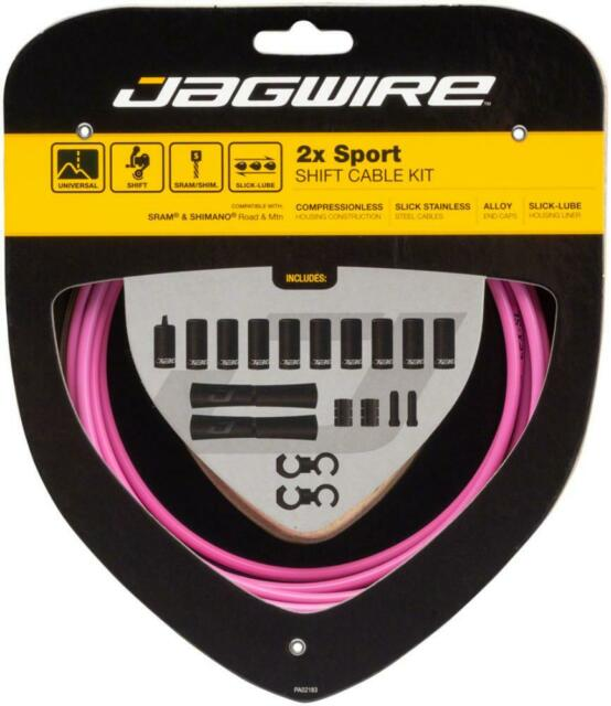 Jagwire 2x Sport Shift Cable Kit SRAM//Shimano Carbon Silver