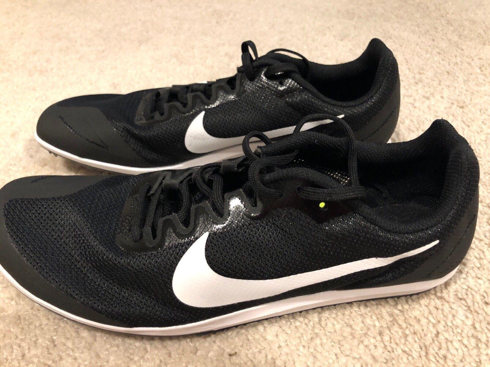 NWOB Nike Zoom Rival D 10 Distance Track Spike Men's US 12 Black White