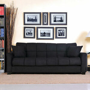 Baja Stylish Comfortable Microfiber Convert A Couch Sleeper Sofa Bed