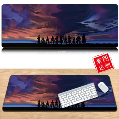 Attack on Titan Anime MousePad Gaming Play Large Mouse Pad Mat Desk Mat 90*40cm