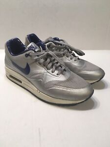 Details about USED NIKE AIR MAX 1 HYP QS METALLIC SILVERDEEP ROYAL 633087 004 SIZE 8
