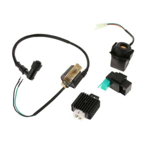 CDI Box Ignition Coil Solenoid Relay Voltage Regulator for 70cc Motorcycle