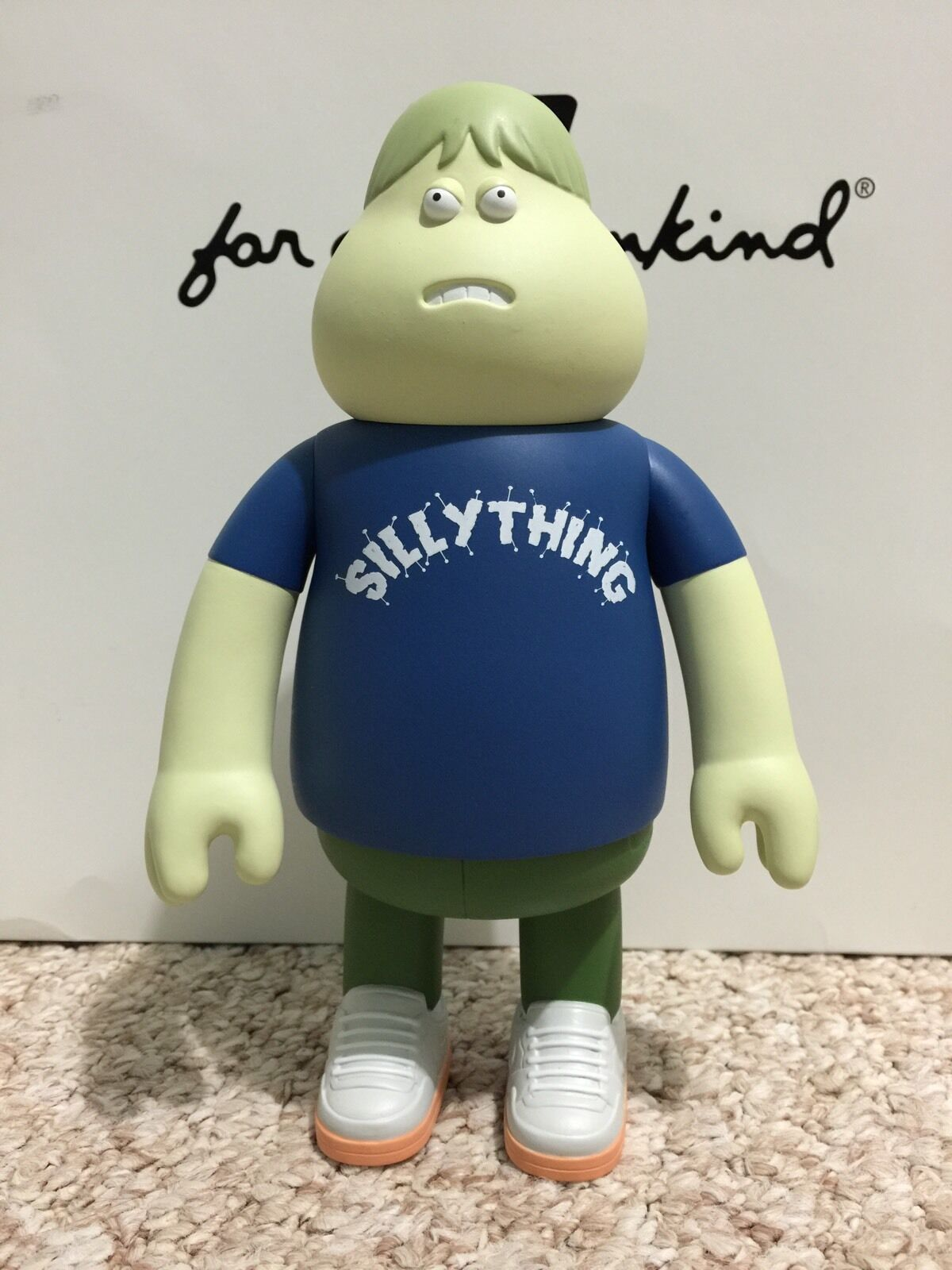 James Jarvis LEON Silly Thing blueE Vinyl Toy Figure Amos Toy Sealed Silas Stussy