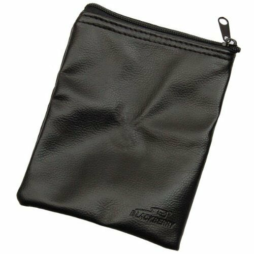 3 x BAGS Genuine BlackBerry Leather Effect Travel Bag Black Zipped PAK-03538 NEW