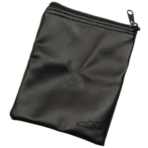 10 x TRAVEL BAGS by BlackBerry PU Leather Black for Chargers Adaptors Cables NEW