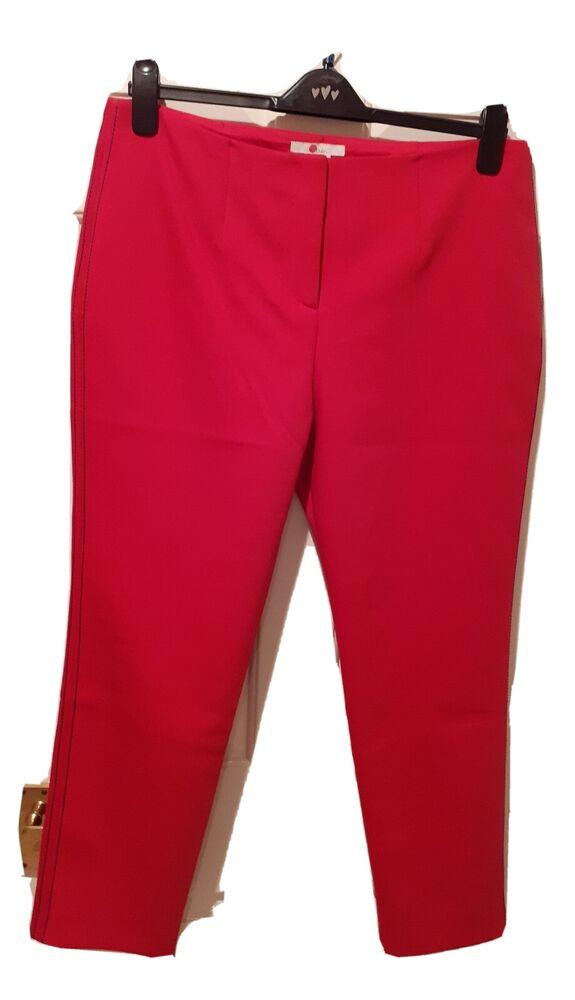 * Nouveau * * Balises * * £ 98 * Boden Rouge Pantalon Taille 16