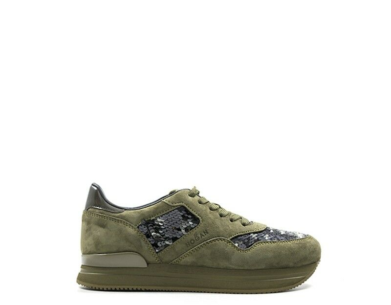 shoes HOGAN women Sneakers Trendy  green Paillettes,Scamosciato W2220N622H6P22R