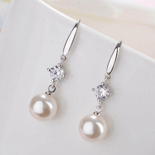 Damen Süßwasser Tropfen Perlen Ohrringe Mit Sterling Lang Perle Bara Qa Top