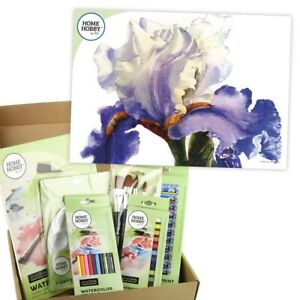 HOMEHOBBY-Par-3L-Aquarelle-Studio-Kit-Iris-Art-Cadeau-Present-Set-Instruction