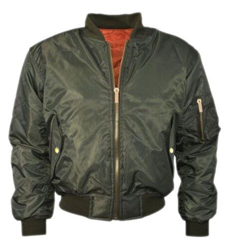 New Womens Ladies Plus Size MA1 Bomber Padded Jacket Vintage Zip Up Biker 8 24
