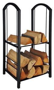 kaminholzablage stahl kaminholzregal stapelhilfe f r brennholz kaminholz holz ebay. Black Bedroom Furniture Sets. Home Design Ideas