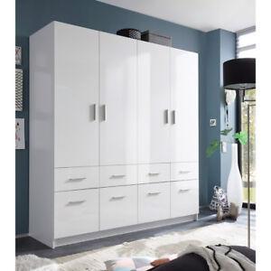 kleiderschrank hagen dreht renschrank schrank 4 t rig wei hochglanz 180 cm ebay. Black Bedroom Furniture Sets. Home Design Ideas