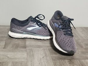 Women's 7.5 Brooks Transcend 6 Gray Size 7.5 Running Athletic Shoes 1202871B078