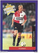 Rare '96 Panini Holland's EUROPEAN SUPER STAR Ronal Koeman with FEYNOORD