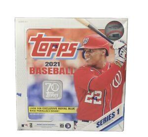 2021 Topps Baseball Series 1 Factory Sealed Mega Box Walmart 256 Total Cards 🔥