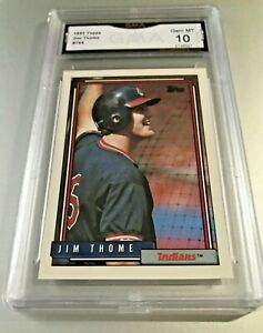 JIM-THOME-ROOKIE-CARD-HOF-1992-Topps-768-GMA-Graded-10-Gem-Mint