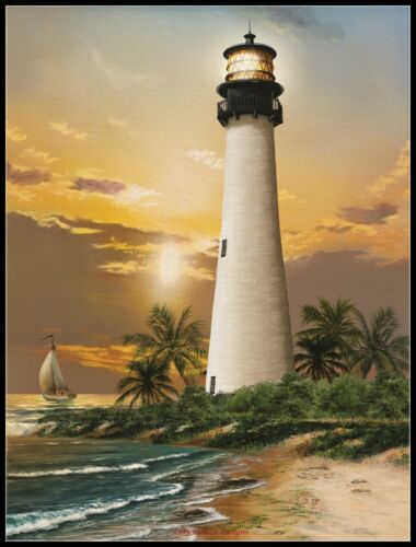 Cape Florida Lighthouse DIY Chart Counted Cross Stitch Patterns Needlework
