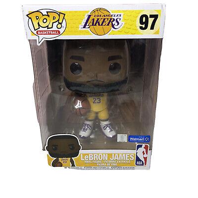Funko POP NBA Lakers LeBron James Yellow Jersey 10-Inch Vinyl Figure #97 Excl   eBay