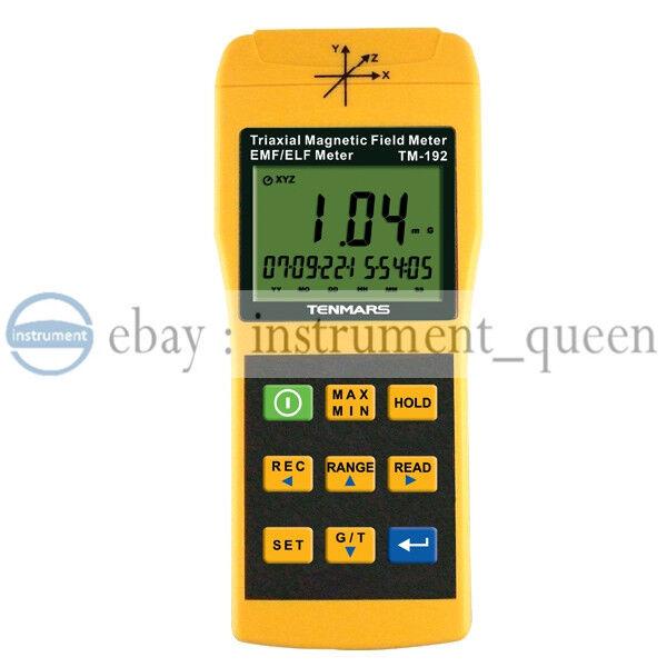 Tenmars Tenmars Tenmars TM192 3 Axis Triaxis Gaussmeter EMF ELF Magnetic Field Meter 69b053